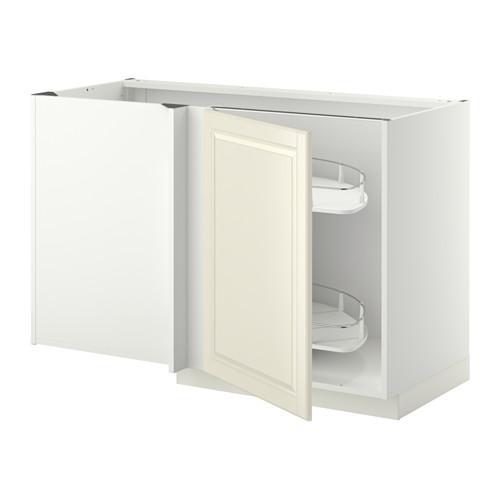 МЕТОД Угловой напол шкаф с выдвижн секц - Будбин белый с оттенком, белый