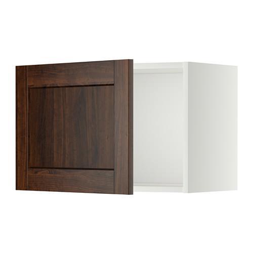 МЕТОД Шкаф навесной - 60x40 см, Эдсерум под дерево коричневый, белый