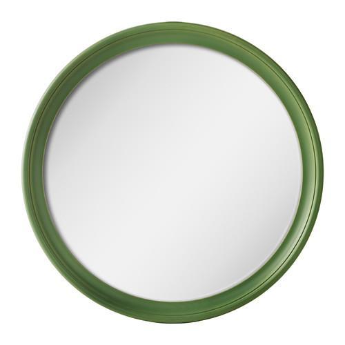 Stabekk Mirror Green 602 878 91, Wood Frame Round Mirror Ikea