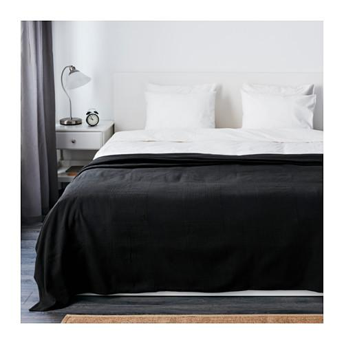 ИНДИРА Покрывало - черный, 250x250 см