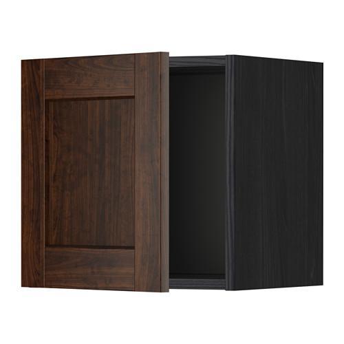 МЕТОД Шкаф навесной - 40x40 см, Эдсерум под дерево коричневый, под дерево черный