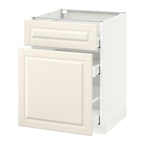 МЕТОД / МАКСИМЕРА Напольн шкаф/выдвижн секц/ящик - 60x60 см, Будбин белый с оттенком, белый