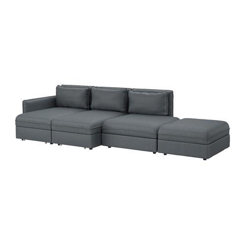 ВАЛЛЕНТУНА 4-местный диван-кровать - Хилларед темно-серый
