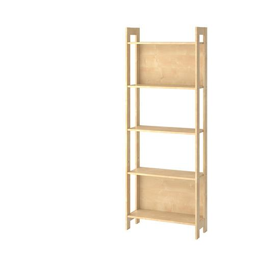 LAIVA birch shelving