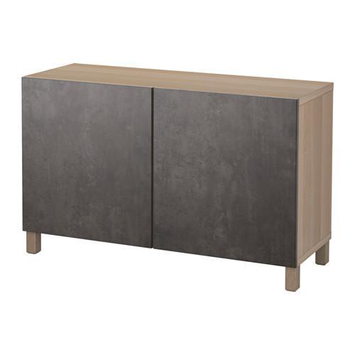 Besto combinazione per stoccaggio con porte in rovere sbiancato callviken cemento grigio - Porte rovere grigio ...