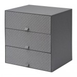 PALRA Mini chest of drawers 3 - dark gray