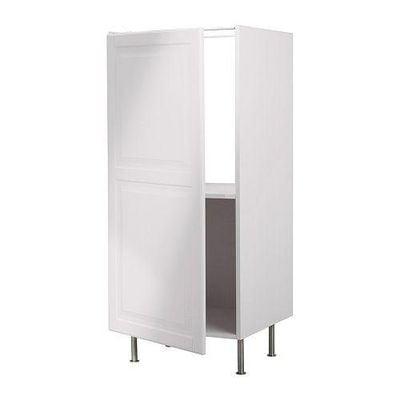 ФАКТУМ Высок шкаф д/холодильника - Лидинго белый с оттенком
