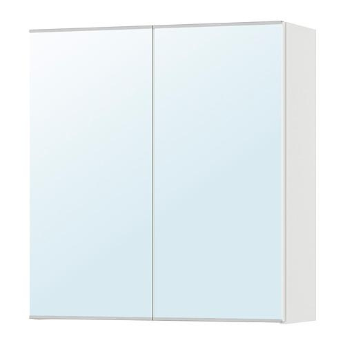 ЛИЛЛОНГЕН Зеркальный шкаф с 2 дверцами - белый