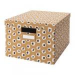 ТЬЕНА Коробка с крышкой - коричневый