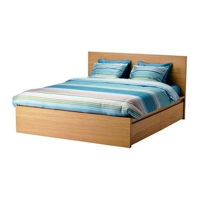 МАЛЬМ Каркас кровати+2 кроватных ящика - 180x200 см, Лонсет