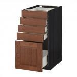 MÉTODO / FORVARA Base mueble con cajones 5 - 40x60 cm Filipstad marrón, madera negro