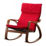 ПОЭНГ Кресло-качалка - классический коричневый, Ранста красный