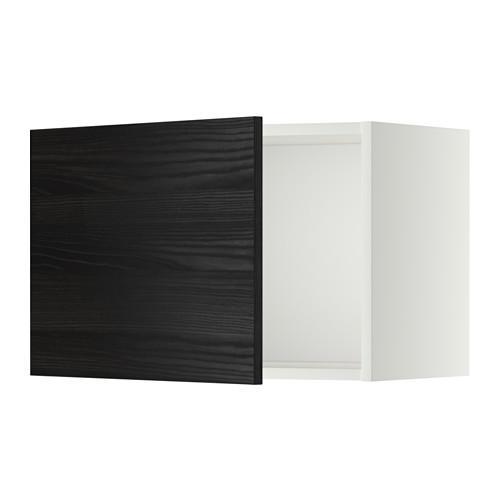 МЕТОД Шкаф навесной - 60x40 см, Тингсрид под дерево черный, белый