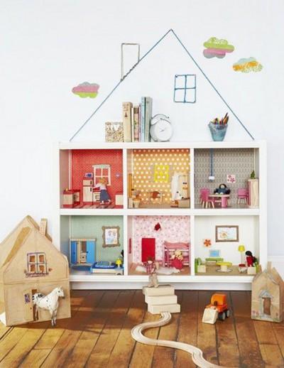 Еще одна идея кукольного домика из стеллажа КАЛЛАКС