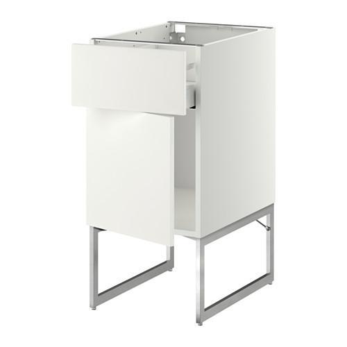 МЕТОД / МАКСИМЕРА Напольный шкаф с ящиком/дверью - 40x60x60 см, Хэггеби белый, белый