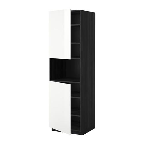 methode h he schrank d mikrowelle 2 t ren regale. Black Bedroom Furniture Sets. Home Design Ideas