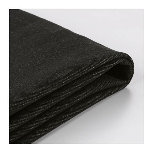 ИКЕА ПС Чехол на 2-местный диван-кровать - Ванста черный, Ванста черный