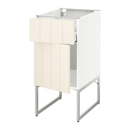 МЕТОД / МАКСИМЕРА Напольный шкаф с ящиком/дверью - 40x60x60 см, Хитарп белый с оттенком, белый