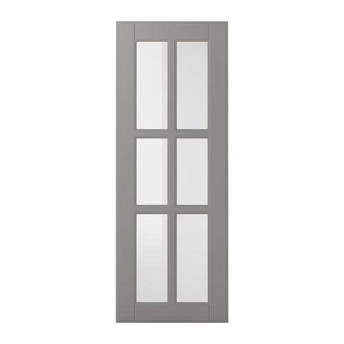 БУДБИН Стеклянная дверь - 30x80 см