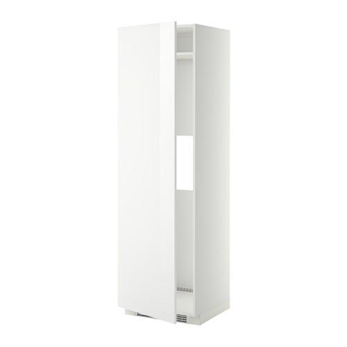 МЕТОД Выс шкаф д/холод или мороз, с дверц - Рингульт глянцевый белый, белый