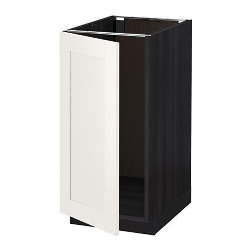МЕТОД Наполный шкаф д/мойки/мусорн конт - Сэведаль белый, под дерево черный