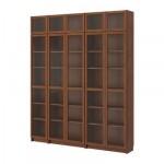 БИЛЛИ Шкаф книжный со стеклянной дверью - классический коричневый,