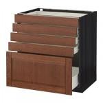 MÉTODO / FORVARA Base mueble con cajones 5 - 80x60 cm Filipstad marrón, madera negro