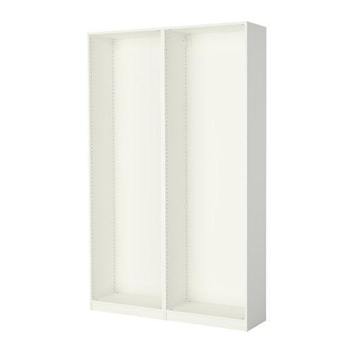 ПАКС 2 каркаса гардеробов - белый, 150x35x236 см