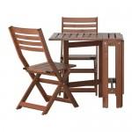ÄPPLARÖ masă + scaune pliante 2, pata de grădină d / grădină