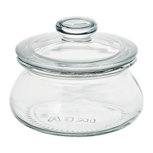 Cork Clear Glass IKEA 403.057.87 Sinnerlig Jar With Lid
