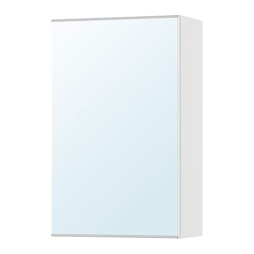 ЛИЛЛОНГЕН Зеркальный шкаф с 1 дверцей - белый