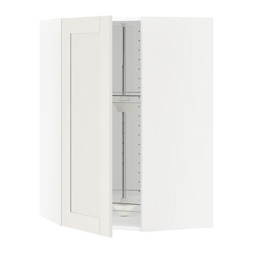 МЕТОД Угл нвсн шкф с вращающ секц - 68x100 см, Сэведаль белый, белый