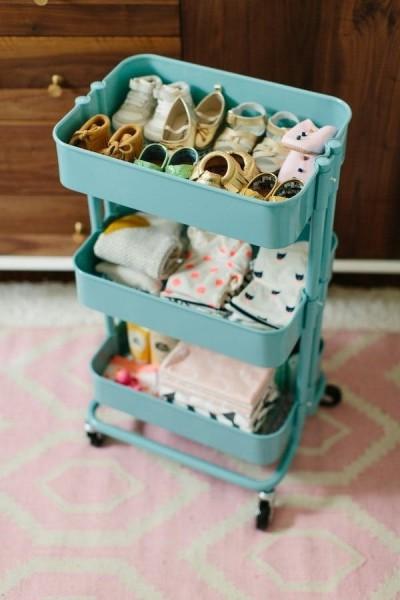 Предвижной шкaф для младенца из корзины РОСКУГ