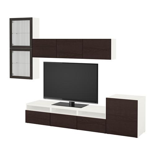 bessto schrank f r tv kombiniert glast ren wei. Black Bedroom Furniture Sets. Home Design Ideas