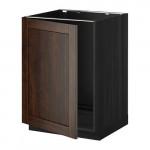 МЕТОД Напольный шкаф для раковины - Эдсерум под дерево коричневый, под дерево черный