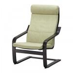 ПОЭНГ Подушка-сиденье на кресло - Семла зеленый