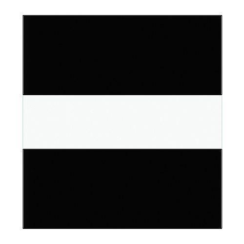 СЕЛЬСВИКЕН Стеклянная дверь - глянцевый черный