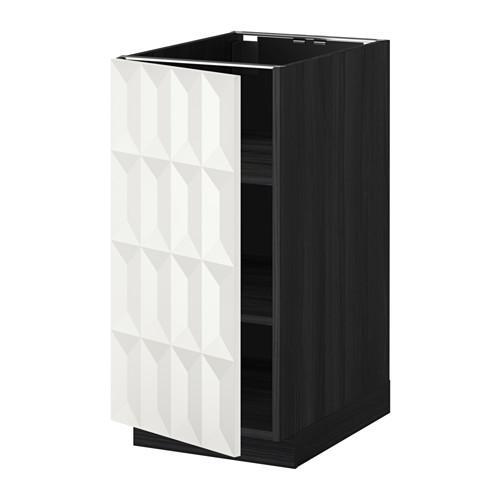 МЕТОД Напольный шкаф с полками - 40x60 см, Гэррестад белый, под дерево черный
