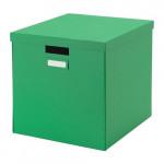 ТЬЕНА Коробка с крышкой - зеленый