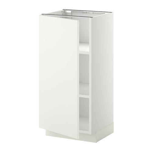 МЕТОД Напольный шкаф с полками - 40x37 см, Хэггеби белый, белый