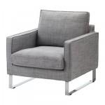 МЕЛБИ Чехол кресла - Исунда серый