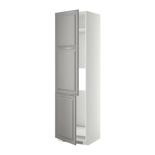 МЕТОД Высокий шкаф д/холод/мороз/2дверцы - Будбин серый, белый