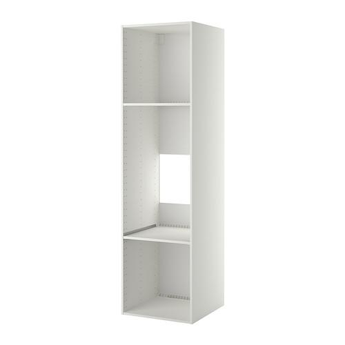 МЕТОД Каркас высокого шкафа д/духов/холод - 60x60x220 см, белый