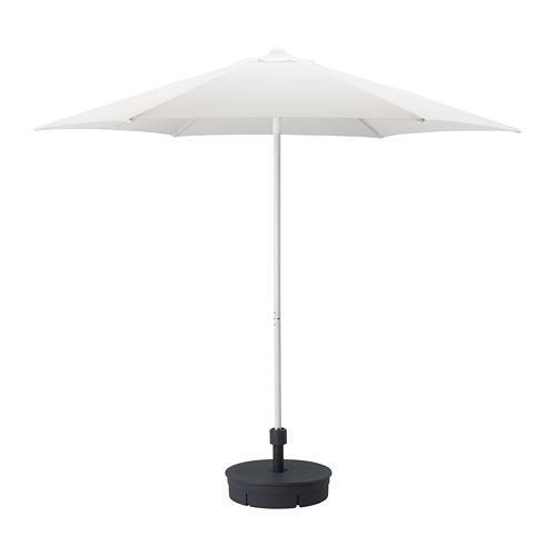 HÖGÖN parasoll med støtte (392.858.13) anmeldelser, pris