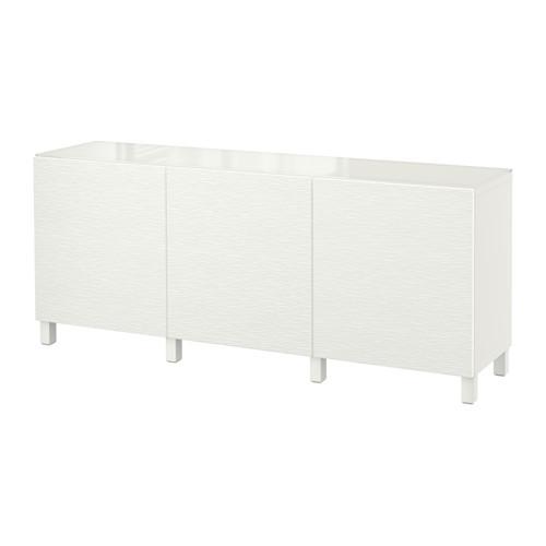 БЕСТО Комбинация для хранения с дверцами - белый/Лаксвикен белый