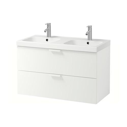 GODMORGON / ODENSVIK Schrank mit Spüle 2 Kiste - Weiß