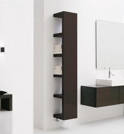 Полочный модуль ЛАКК в интерьере ванной комнаты