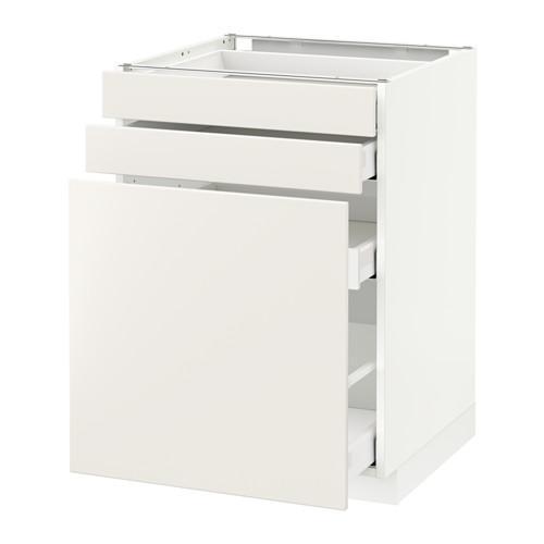 МЕТОД / МАКСИМЕРА Нплн шк с вдв мдл/2 фрнт - 60x60 см, Веддинге белый, белый
