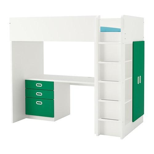 STUVA / FRITIDS Hochbett / 3-Schublade / 2-Türen - weiß ...