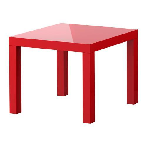 ЛАКК Придиванный столик - глянцевый красный